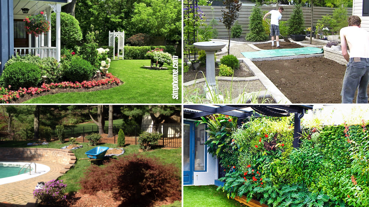 SIMPHOME.COM 10 Ideas How to Make Backyard Privacy Landscaping Featured Image