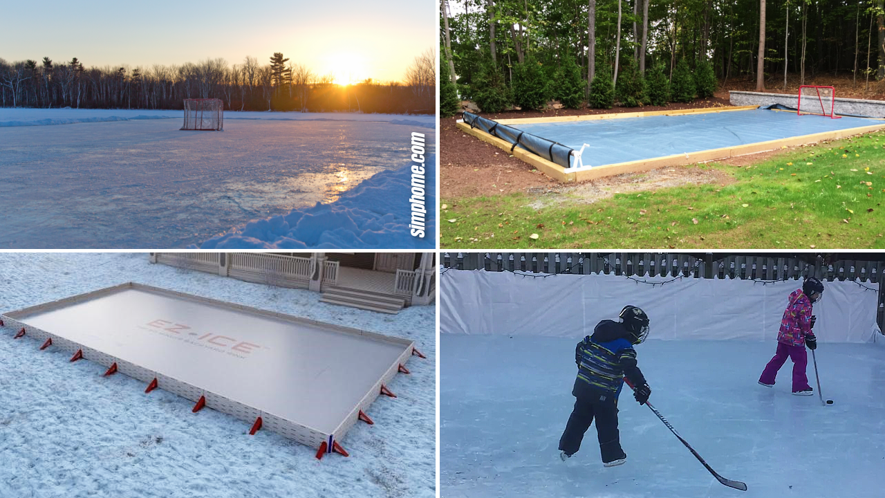 SIMPHOME.COM 10 Ways how to build a backyard ice rink ideas Featured Image