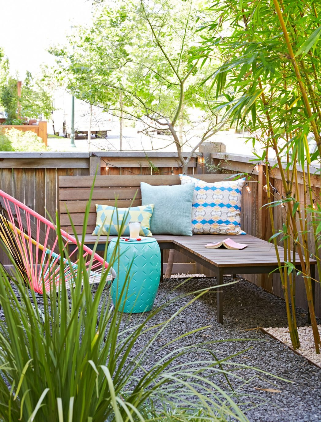 backyard ideas makeover on a budget patio seating bamboo 102605130 in cheap backyard makeover ideas