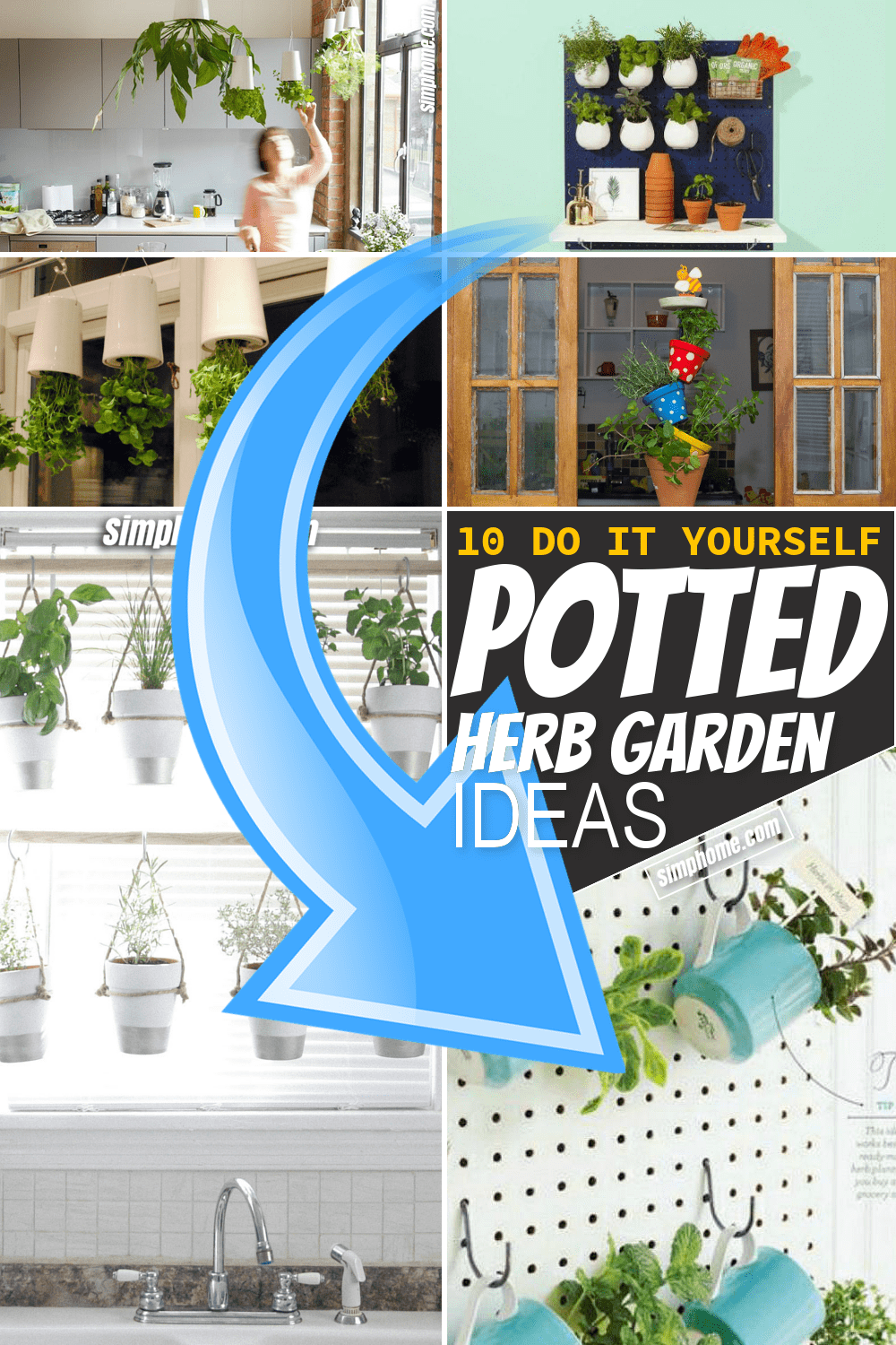 Simphome.com 10 DIY potted herb garden ideas Featured Image