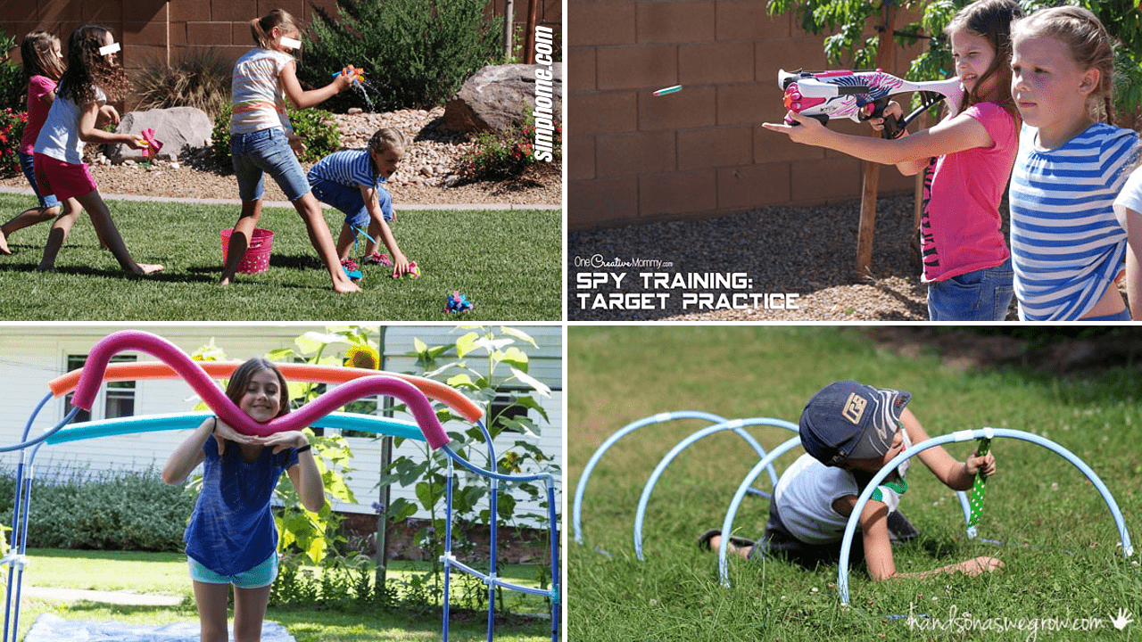 10 Backyard Obstacle Ideas for Kids by Simphome.com