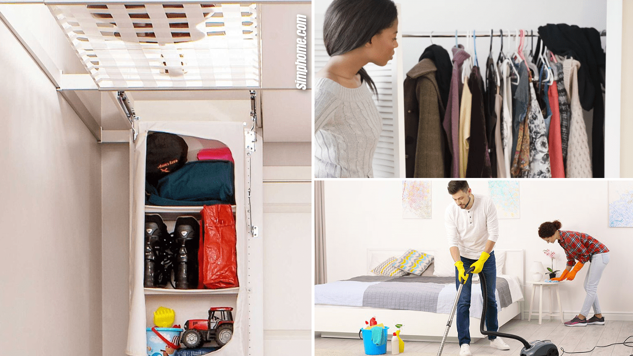 10 ideas how to declutter a small bedroom regular or large by Simphome.com