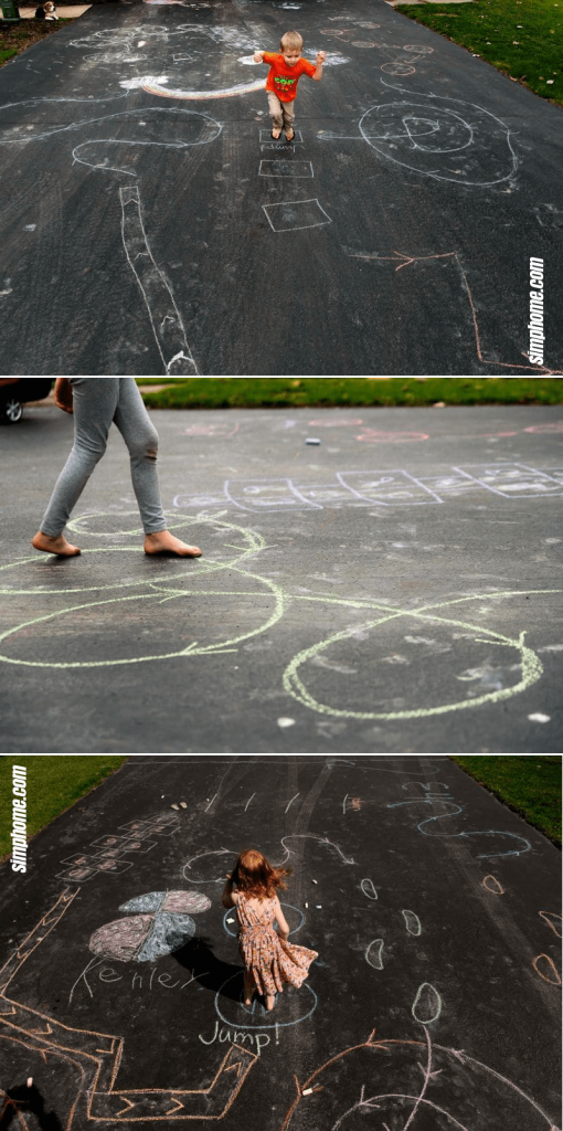 10.Chalk Obstacle Course by Simphome.com