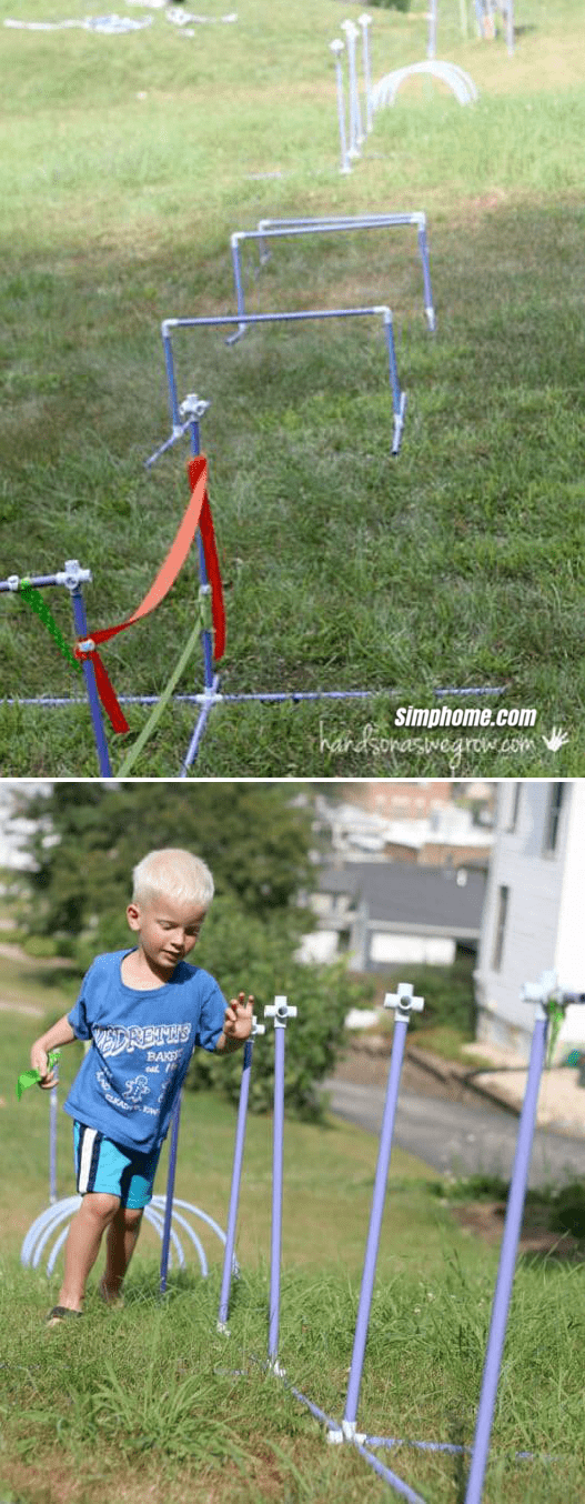 8.PVC Pipes Obstacle Course Idea by Simphome.com