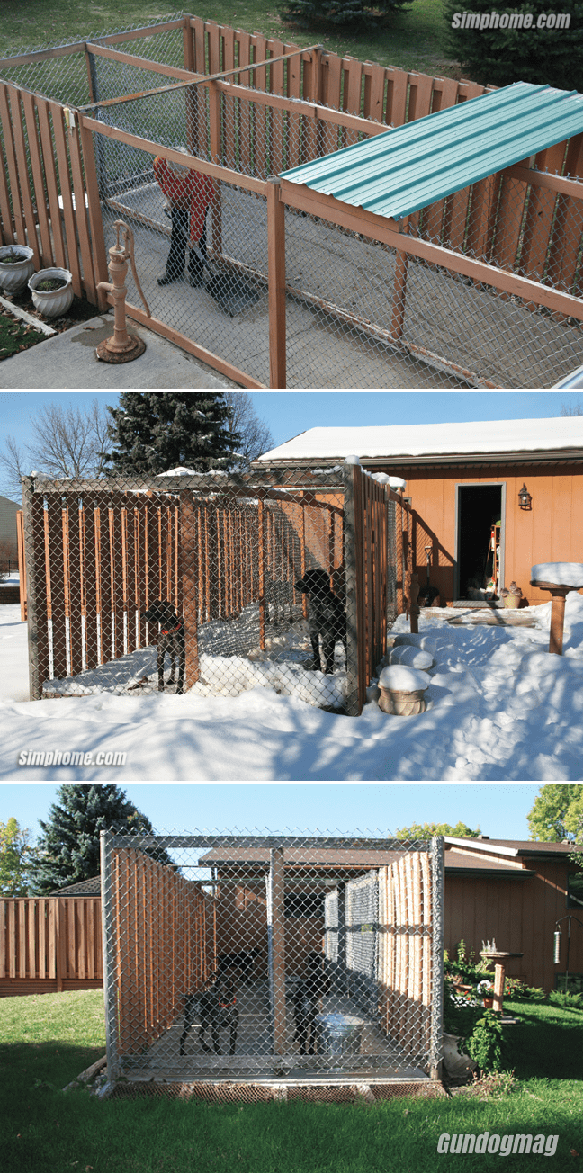 9.Dog Kennel with Concrete Floor By Simphome.com