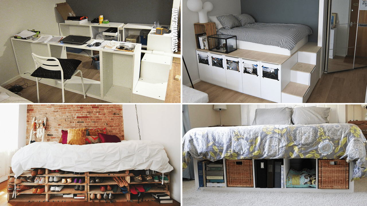 Simphome.com 10 Ideas How to Optimize under the Bed Storages