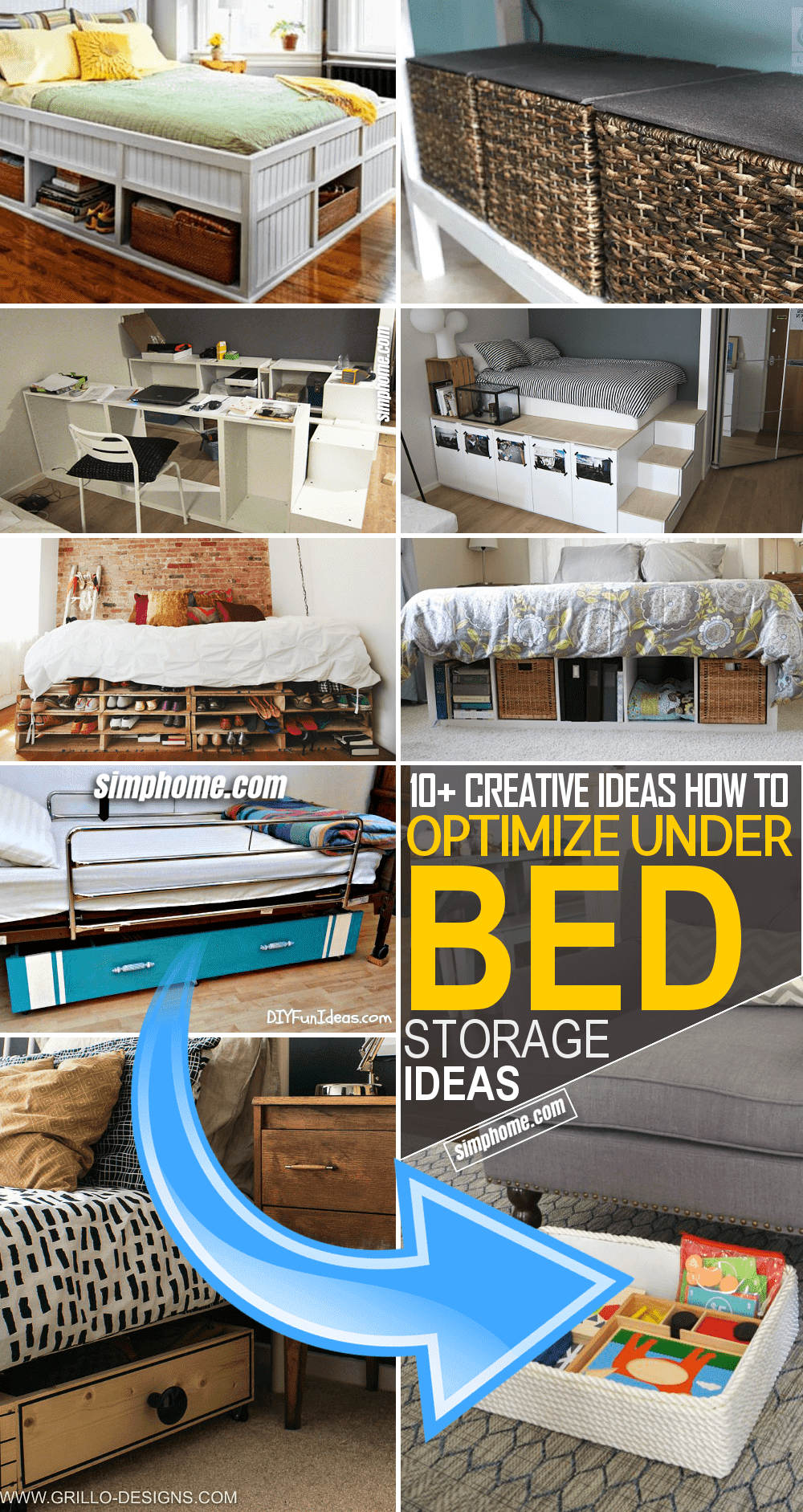 1.Tap the Space under Your Bed by Simphome.com
