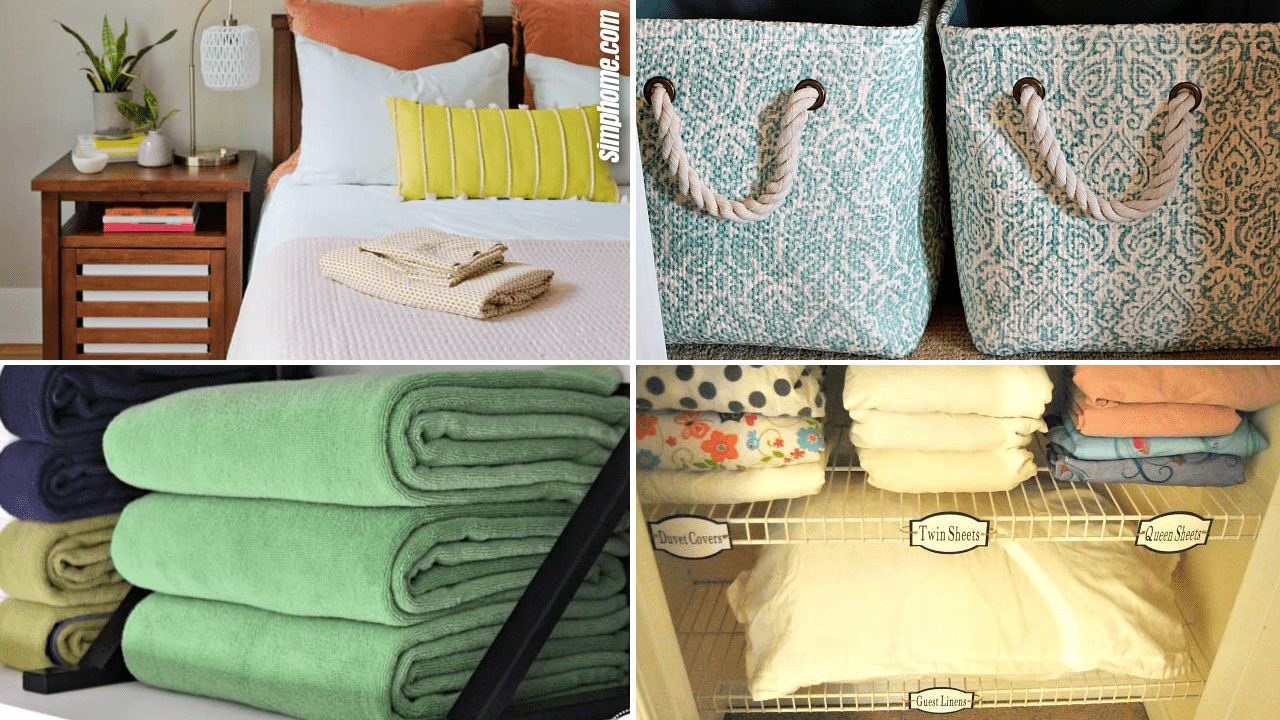 10 Bedroom Linen and Sheet Organization Ideas by Simphome.com