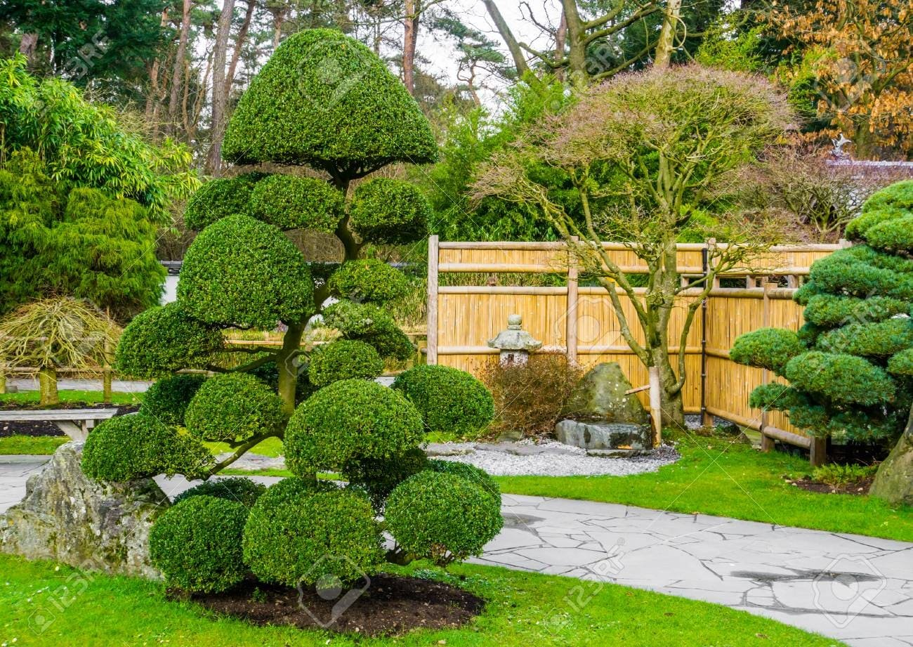 1.Round out It with a Stone Lantern via Simphome.com without Pond