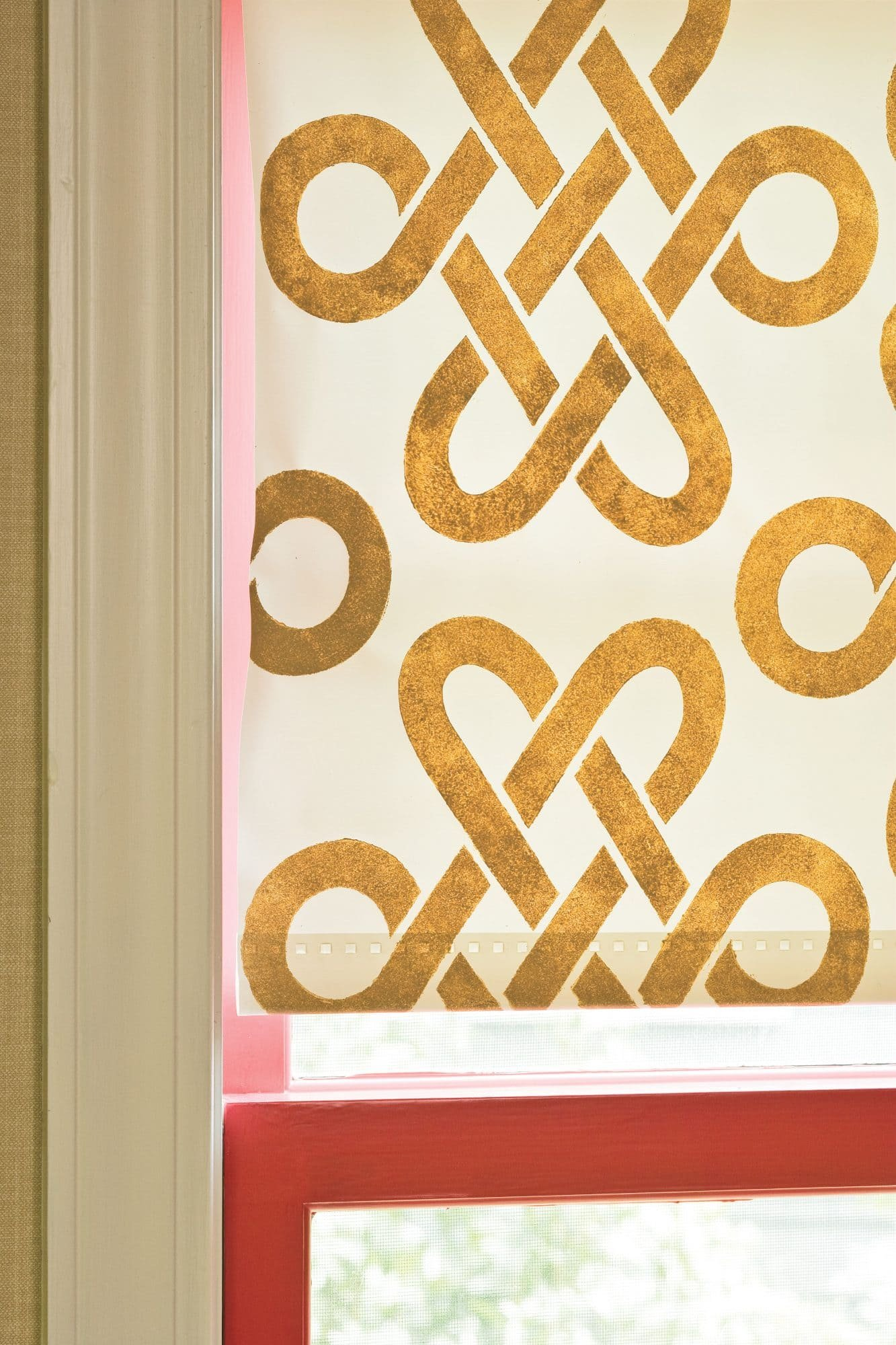 5.Stencil Your Roller Shade zoom in
