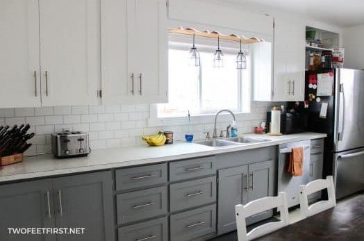 12.After Add style to your cabinet with shaker type doors via Simphome.com