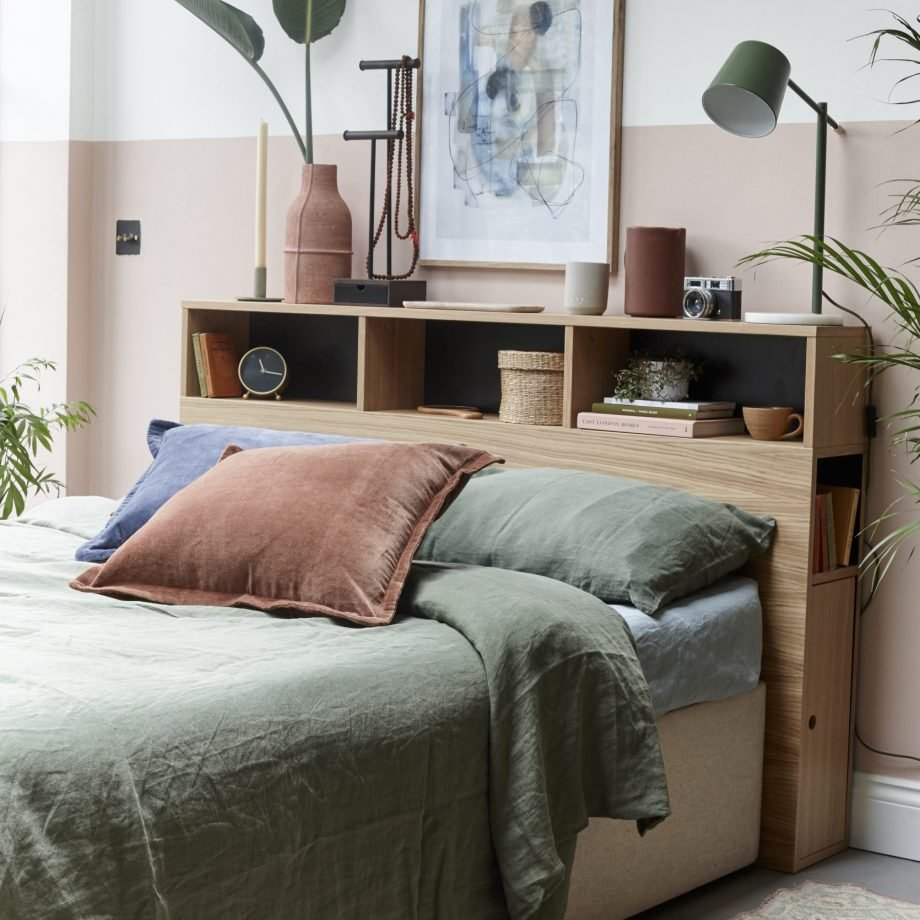 5.Invest in Headboard with Storage via Simphome.com
