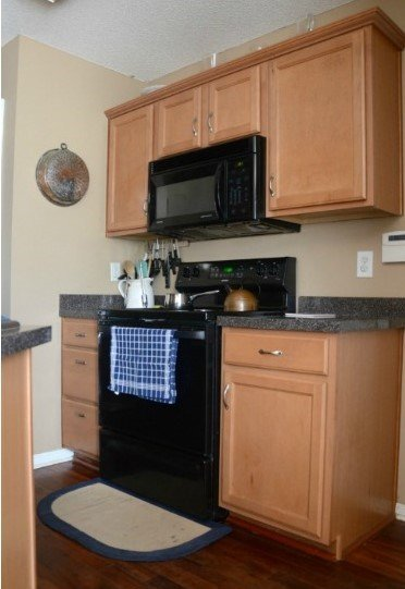 7.Change your Cabinet Color and make it More Attractive Before via Simphome.com