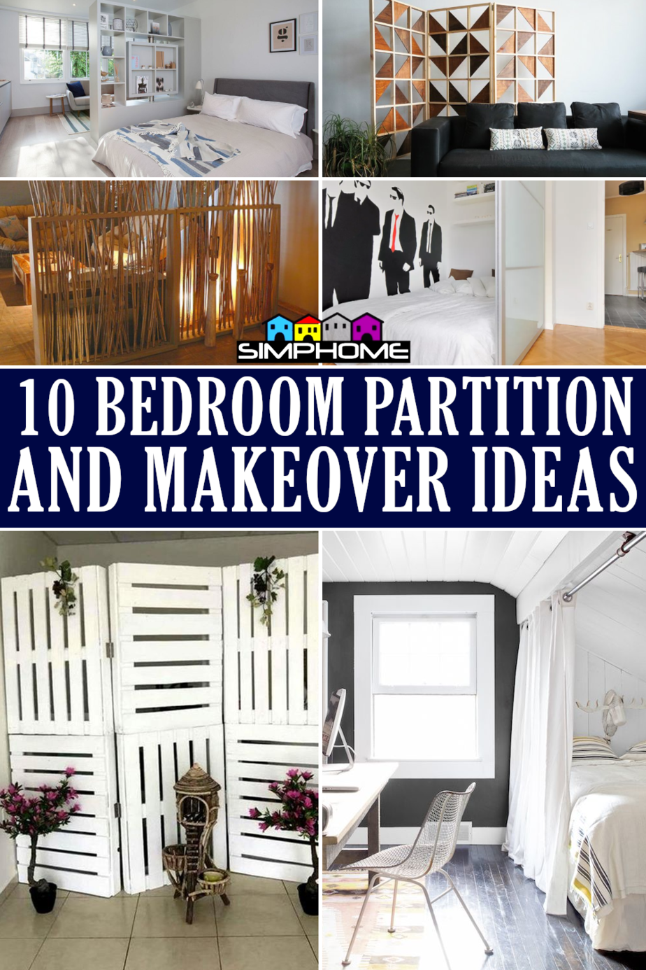 bedroom partitions and makeover ideas via simphome.com featured image