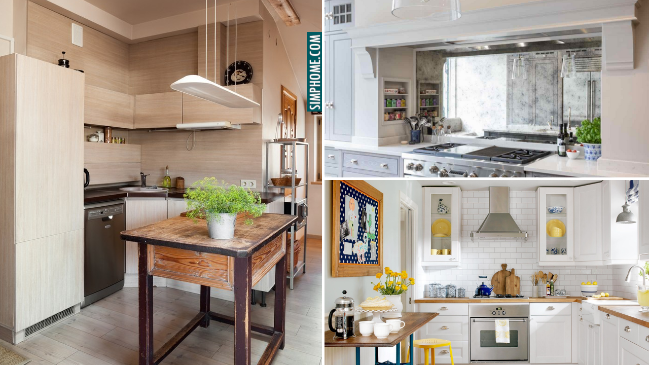 10 Tips How to turn Small Kitchen Looks Larger via Simphome.com