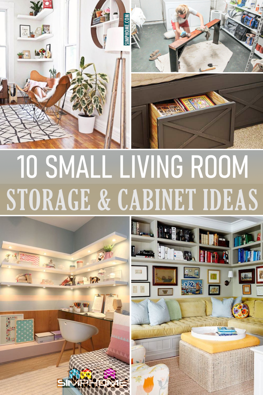 10 small living room storage and cabinet via Simphome.com Featured