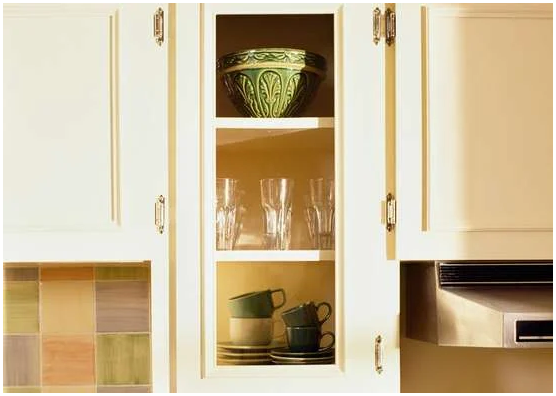 3.Invest in Glass Front Cabinet Doors via Simphome.com