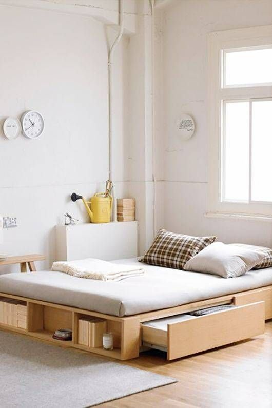 7.Opt for Simple Bed Frame With Storage By Simphome.com