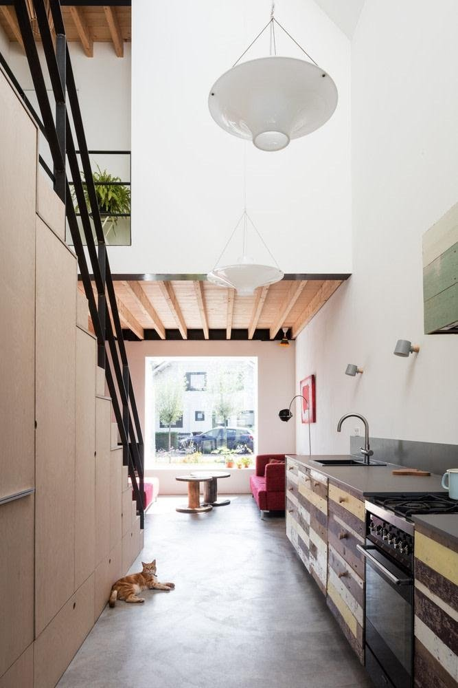 05. Near Staircase Galley Kitchen by simphome.com