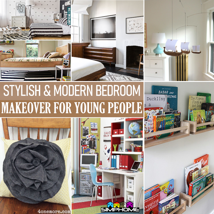 10 Modern and Stylish Bedroom Makeover for Young People By Simphome.comYtcc