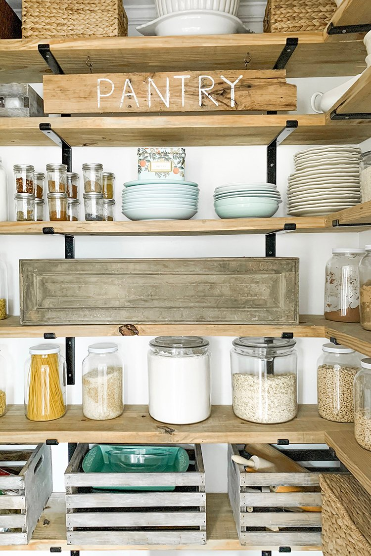 12. Get this rustic walk in pantry system by simphome.com