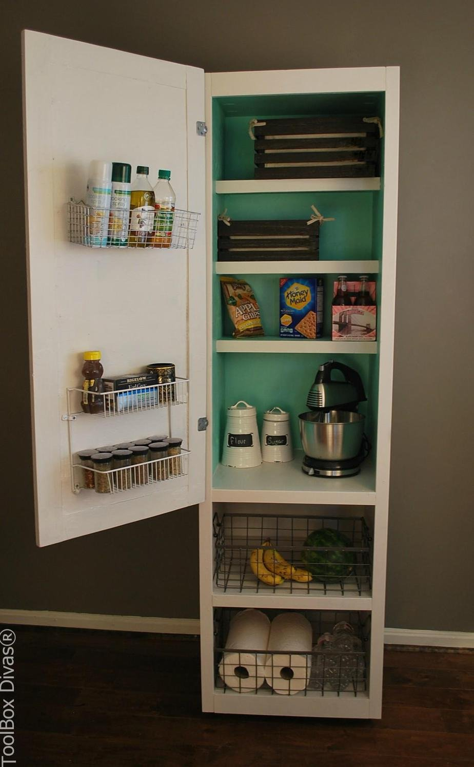 2. Build This DIY Mobile Pantry Cabinet by simphome.com