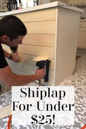 3. give your kitchen peninsula or island a shiplap look for under 25 by simphome.com