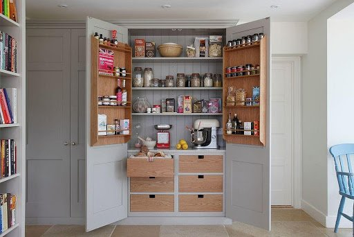 4. Turn the Cabinet Doors into Pantry by simphome.com