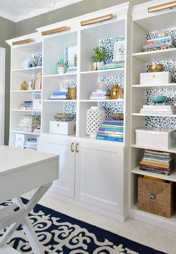 7. Fun bookcase styling project idea by simphome.com