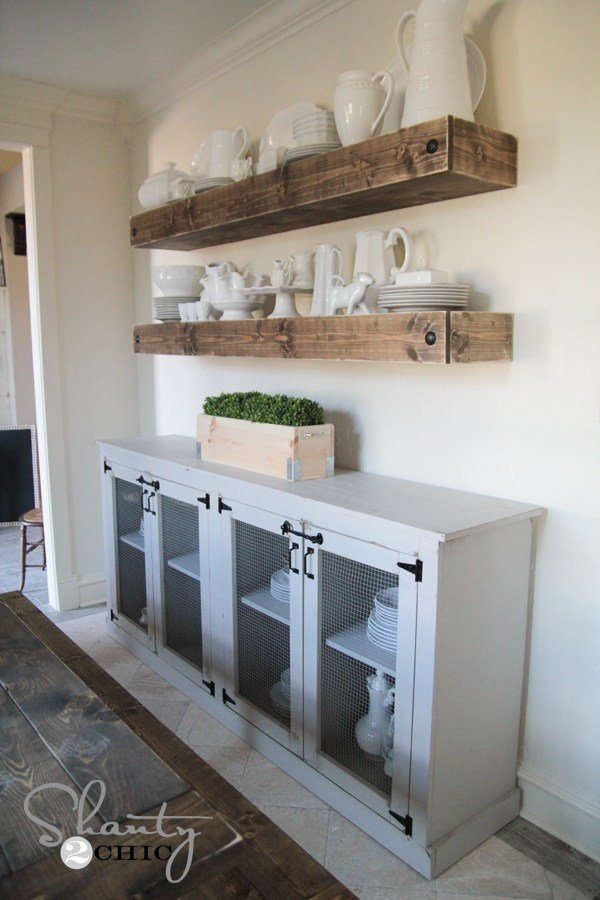 8. DIY sideboard for Dining room idea by simphome.com