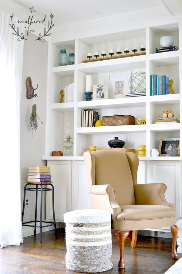DIY Built in Bookshelves around Fireplace The Weathered Fox