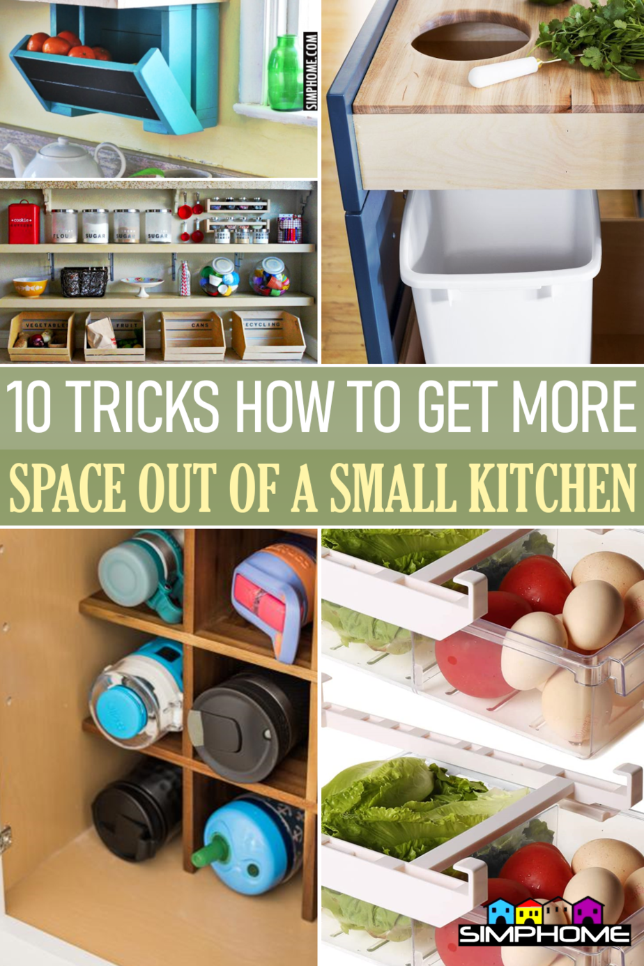 10 tricks to GET NEW storage out of a small kitchen from Simphome.comFeatured