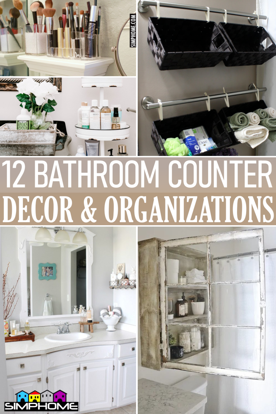 12 Bathroom Counter Decor and Organizations By Simphome.comFeatured
