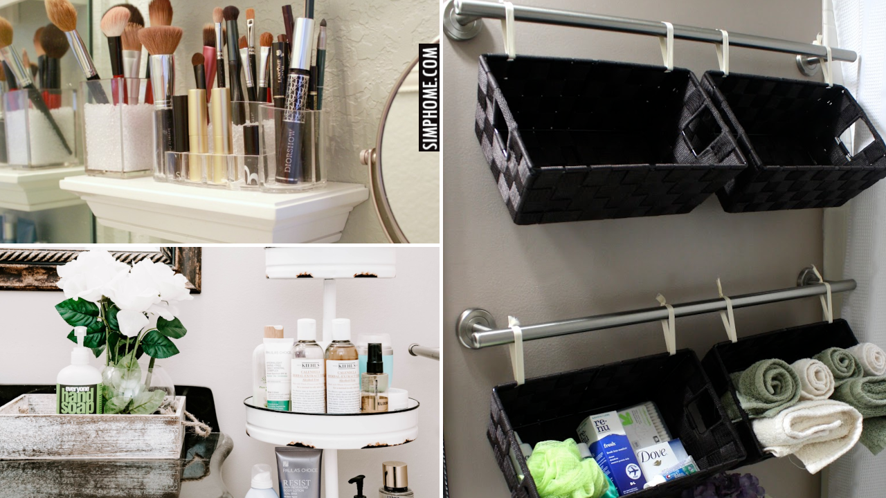 12 Bathroom Counter Decor and Organizations By Simphome.comThumbnail Blog