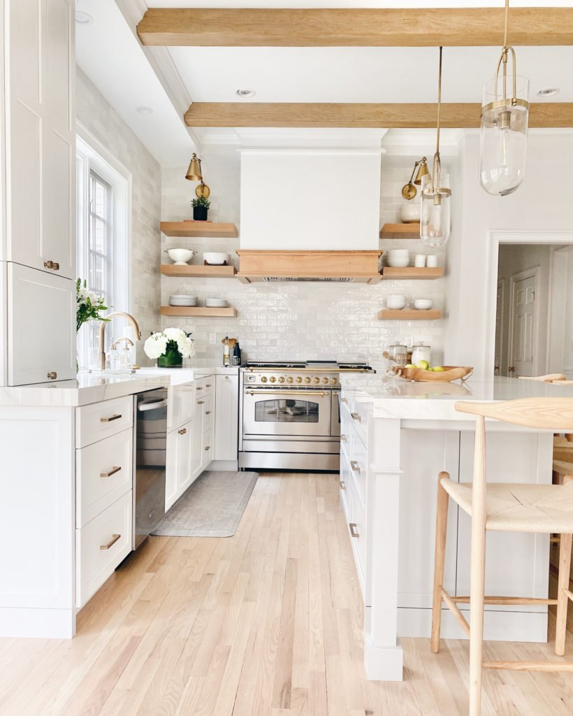2. White and wood kitchen remodel by simphome.com