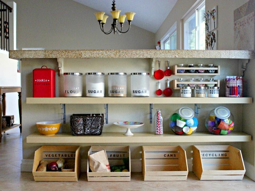 7. Add shelves to Your Kitchen Island by simphome.com