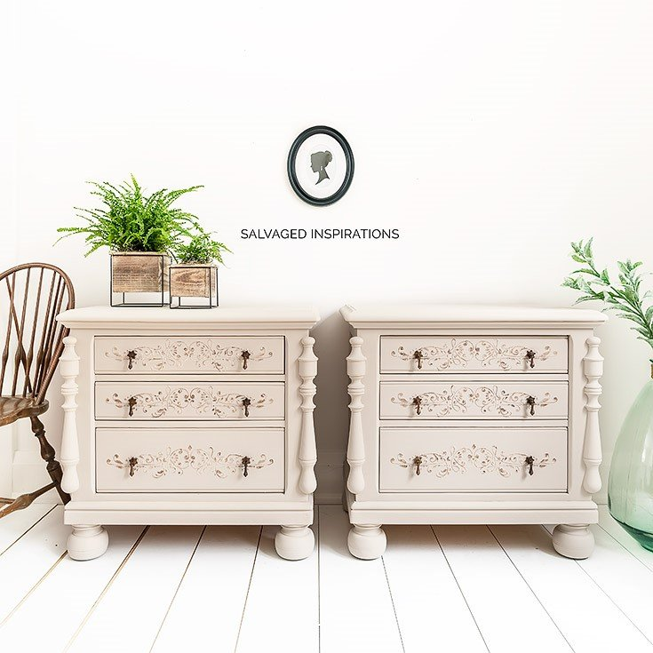8. How to Apply Stencil Texture to Your Painted Furniture Makeovers by simphome.com