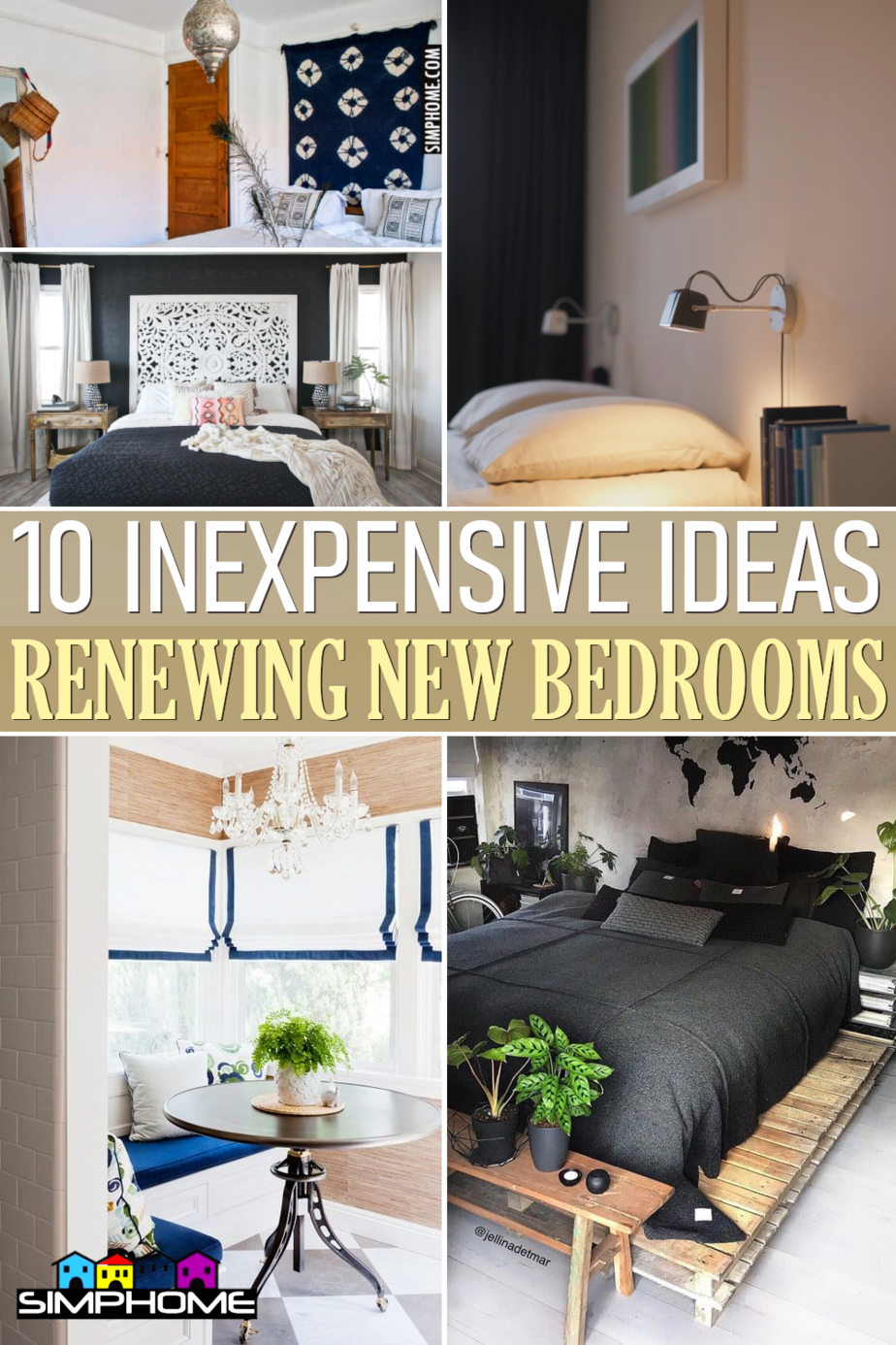10 Inexpensive Ideas to renew bedroom by Simphome.comFeatured