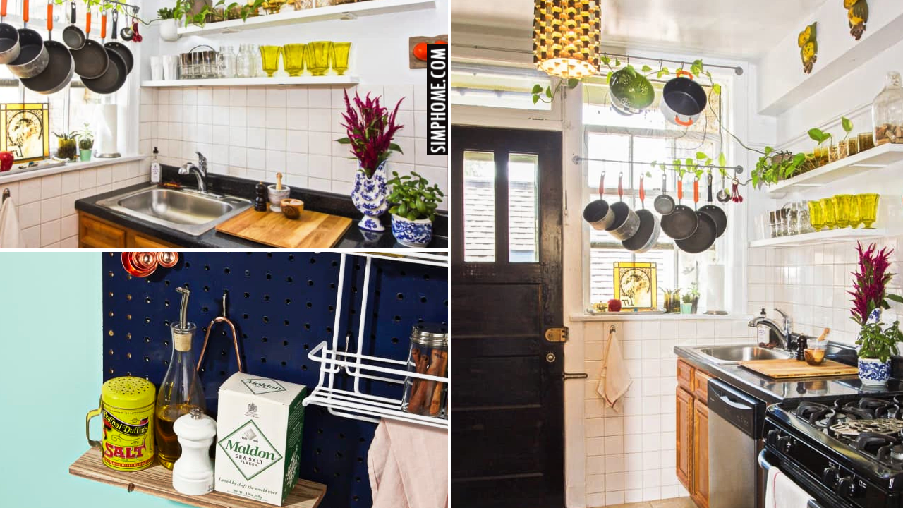 10 Simple DIY Kitchen Projects that Produce Extra Storage via Simphome.comThumbnail