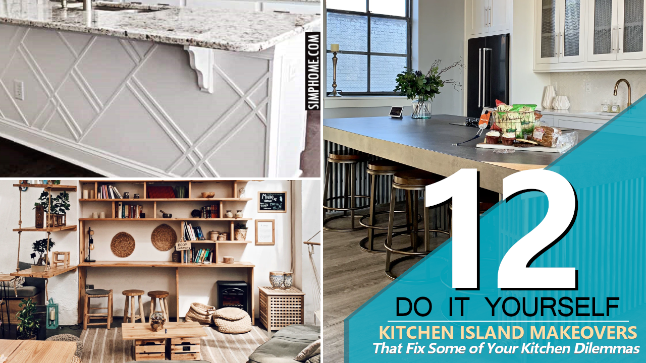 12 DIY Island and Other Kitchen Makeover via Simphome.com1280x720