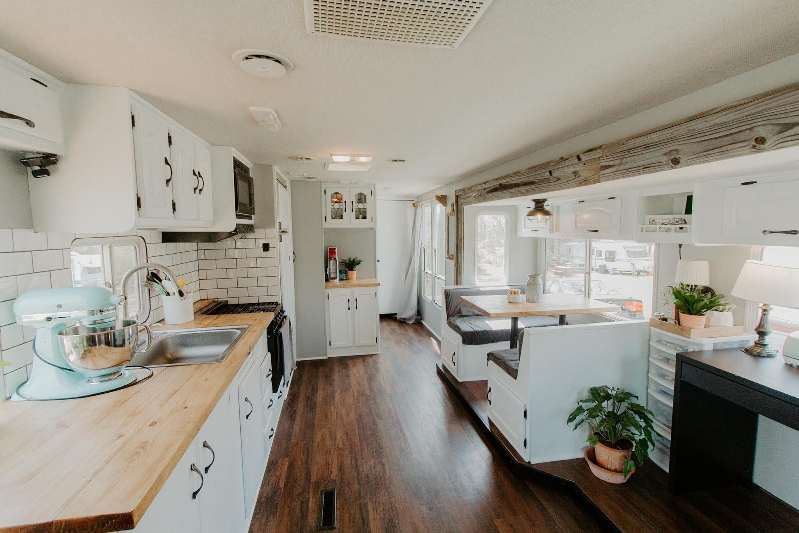 2. Take Inspiration from this budget conscious RV renovation. by simphome.com
