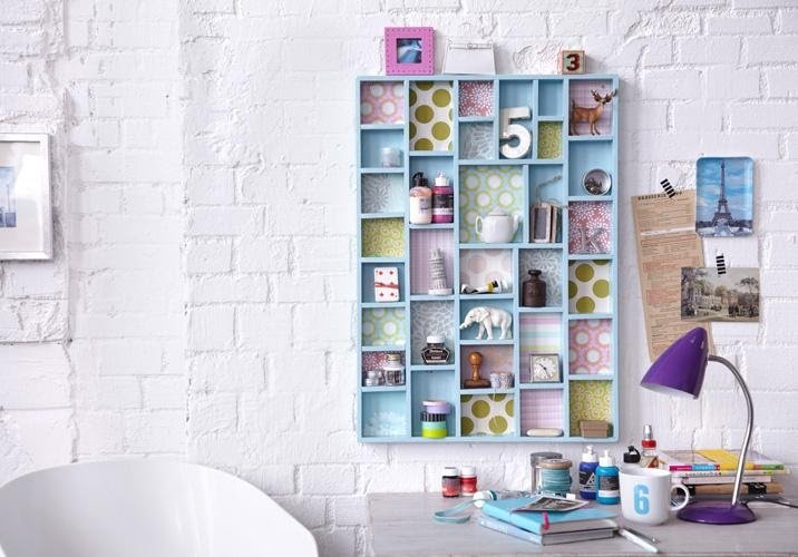 3. Simple Cubby Chic Wall Storage by simphome.com