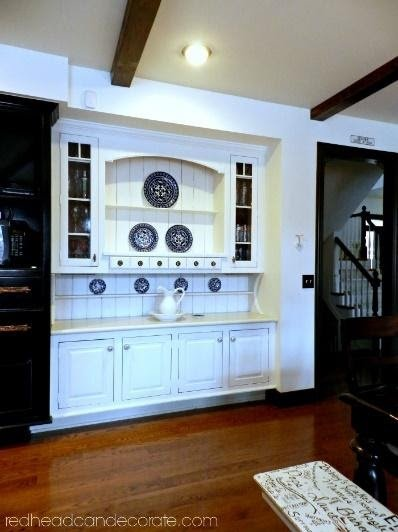 1. Remodeling A Built in Kitchen Hutch by simphome.com
