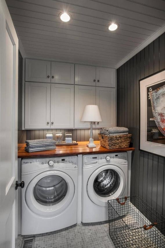 1.Modern Laundry Room In Basement by simphome.com