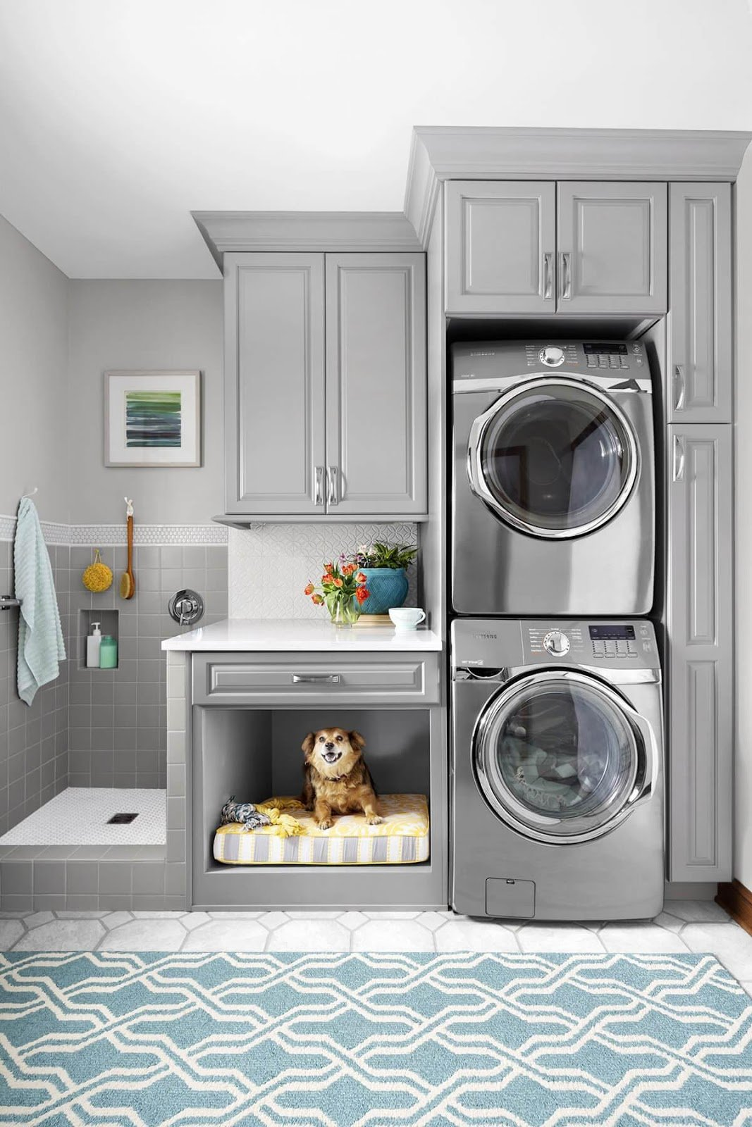 10. Clothes and Pet Cleaning Laundry Room by simphome.com