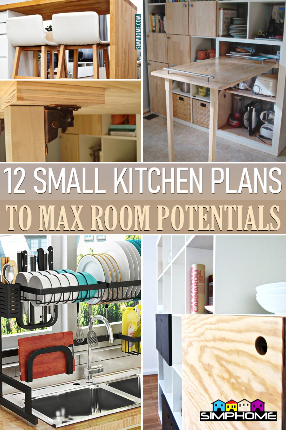 12 Small Kitchen Plan to Max Out Every Inch of Any Room Potential via Simphome.comFeatured