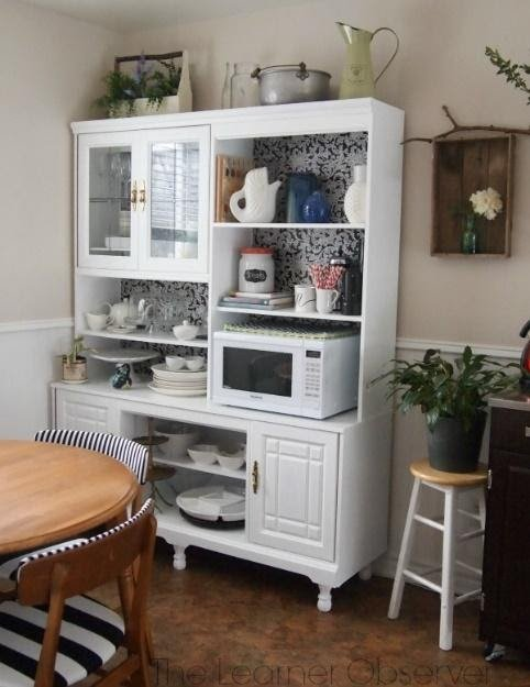5. From A Thrifted Wall Unit to A Kitchen Hutch by simphome.com .