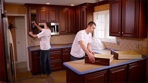 6. Laminate Your Cabinet by simphome.com