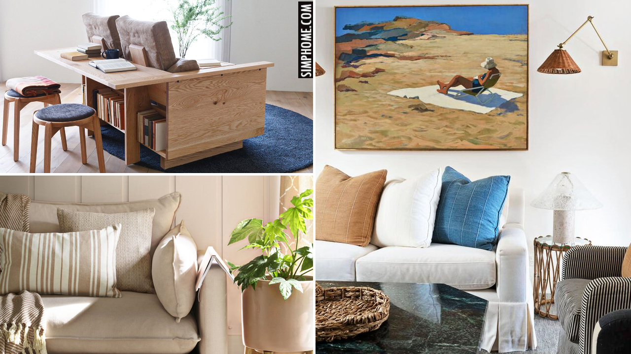10 Small Living Room Styling Ideas VIA Simphome.comThumbnail