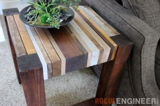 10. Side Table from Scrap Wood by simphome.com